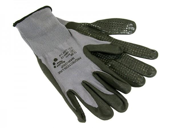 Handschuh - Gartenhandschuh grau Noppen Maxi Grip L/9