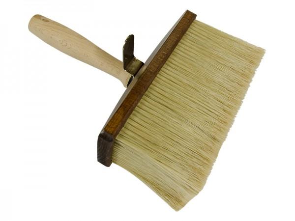 Decken-Lasur und Malerbürste Holzkörper braun helle Chinaborsten