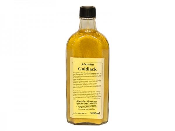 Effektlack aus Schellack Goldlack 250ml