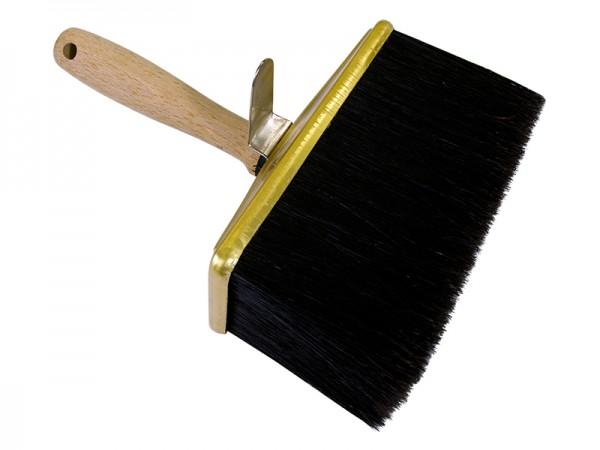 Decken- und Lasurbürste Metallkörper gold, schwarze Chinaborsten