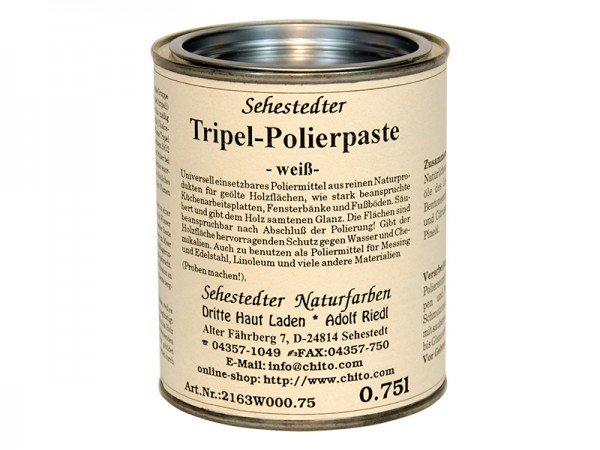 Tripel-Polierpaste weiß