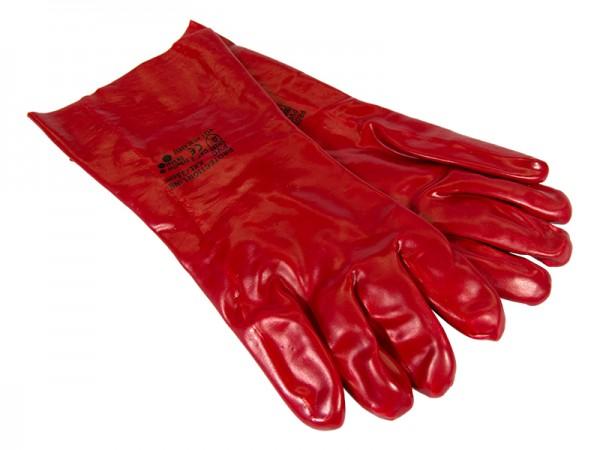 Handschuh - Arbeitshandschuh PVC rot 35 cm XXL