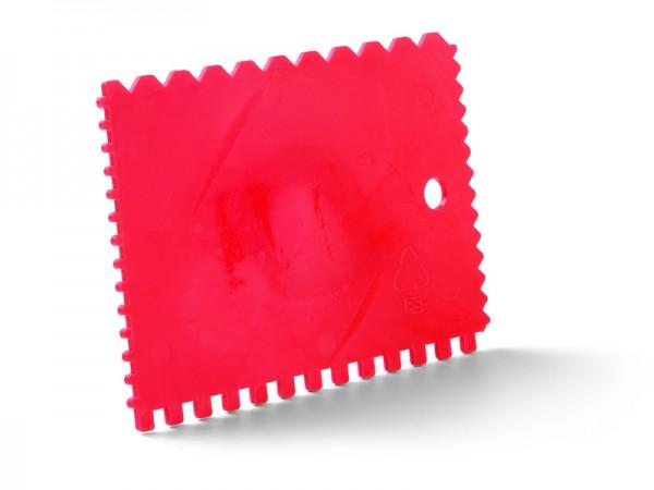 Zahnspachtel Kunststoff rot 90 x 130mm