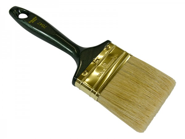 Lackier/Lasurpinsel 80mm flach grüner Stiel