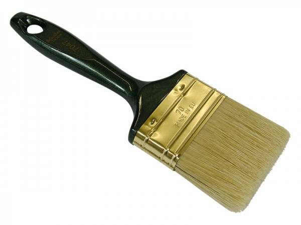 Lackier/Lasurpinsel 70mm flach grüner Stiel