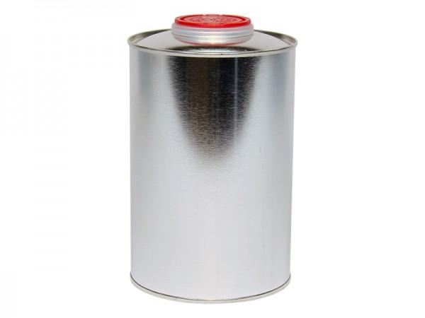 Dose 1,0l Flachkanne Blech mit Schraubverschluss