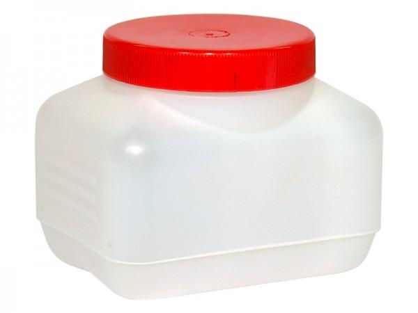 Dose 500ml Plastik eckig roter Schraubverschluss